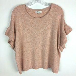 Madewell M Ruffle Sleeve Sweater Tee